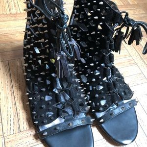 Sam Edelman- Spikey Lace Gladiator Sandals